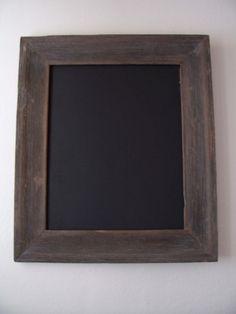 Worn Wood  Framed Chalkboard. $24.00, via Etsy.