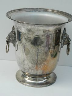 Vintage Ice Bucket Champagne / Wine Cooler by QuirkyCrowsVintage, $68.00