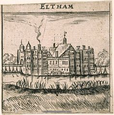Eltham Palace c.1653. A view, said to be by Peter Stent, of Eltham Palace just before the major demolitions in the 1650s. The queen's apartments are to the left and the king's to the right.