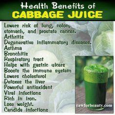 Healthy benefits of cabbage juice...