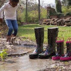 These boots are made for walking right through puddles.
