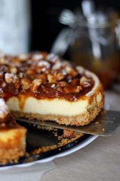 Macadamia cheesecake// Karamelový dort s makadamovými oříšky