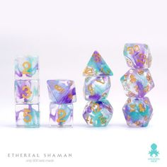 Ethereal Shaman 11pc dice set with extra d20 for Advantage & Disadvantage