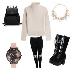 """""""This outfit is so #Lit 🔥"""" by milliebeth84 on Polyvore featuring Vanessa Seward, Boohoo and Olivia Burton"""