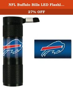 NFL Buffalo Bills LED Flashlight, Small. Need a light? Try the Team ProMark LED flashlight, featuring your NFL team's logo on the handle. It's made with 9 super-bright LED bulbs that will illuminate the surrounding area for up to 100,000 hours. It's water resistant and comes with an attached lanyard for easy carrying. The flashlight requires 3 AAA batteries (not included). Officially licensed by the NFL, this durable LED Flashlight features full color graphics. Team ProMark offers…