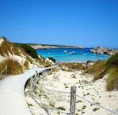 #arenaldesonsaura #playa de arena dorada y finaven #menorca