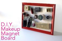 If you're like us and have way too much makeup to handle, here's an amazing and easy way to store your makeup magnetically—never neglect any of your products again with this ingenious idea!