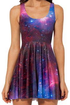 Free Shipping Black Milk Galaxy Purple Skater Dress for Women 2014 Fashion Women's Black Milk Girl Dress US $9.99