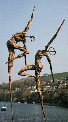 #Metal dancers art installation …
