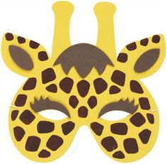 printable paper masks giraffe - Google Search