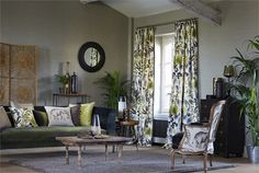 Harlequin's Amazilia fabric collection made into any soft furnishing you desire by Gilroy Interiors.