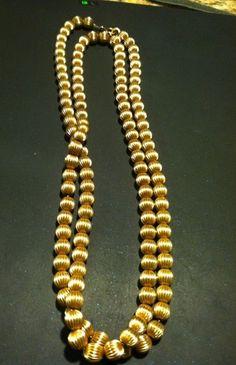 Vintage Stunning 12K 1 20 Gold Filled 30 Length Bead Necklace 24 Grams   eBay