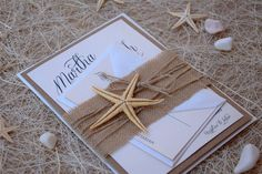 Rustic Invitations Beach Wedding Invitations by PaperStudioByC