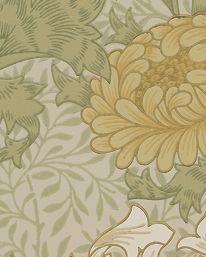 Tapet Chrysanthemum Pale Olive från William Morris & Co
