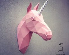 The Original Papercraft Unicorn Paper Trophy by PaperwolfsShop