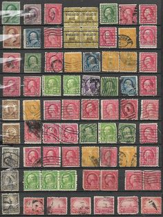 71 US 19th Century stamps # 210 - 2¢ Wash, # 220 - 2¢ Washington, # 207 - 3¢ Was