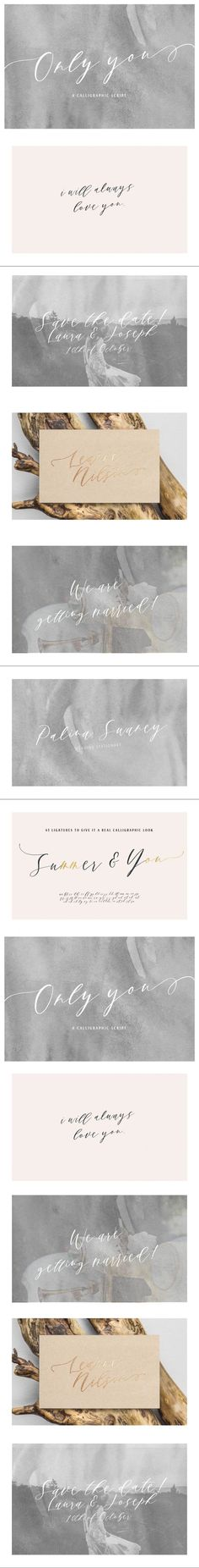 Only You | A Calligraphic Script #font #calligraphic #romantic #typeface #swashes #branding #WeddingDesign #feminine #ModernFont #trendy #logofonts #FontDesign #CalligraphicFont #handwritingfonts #calligraphy #playful #branding #FontDesign #otf Wedding Fonts, Handwriting Fonts, Script, Uppercase And Lowercase Letters, Modern Fonts, Calligraphy Fonts, Wedding Invitation Cards, Lower Case Letters, Quote Prints