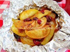 Manzanas y arándanos envueltos