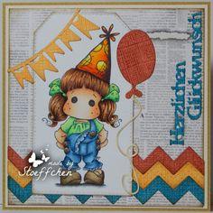 Birthday Card Tilda with summer pants
