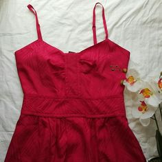 """FLASH SALE! Marc by Marc Jacobs red Silk Dress Only worn once. Now I don't have another occasion to wear it to. 14"""" flat across middle of waist band. 22"""" long from middle of waist bad. Total length of dress is 38"""". 100% silk and adjustable straps. It even has pockets! :) EUC! Marc by Marc Jacobs Dresses"""