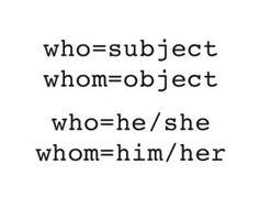 diferencia who y whom - Buscar con Google