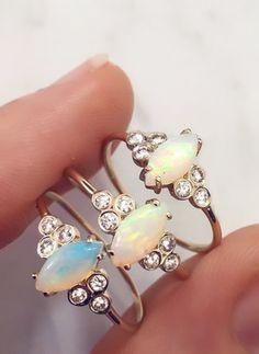 Opal & Diamond Mystic Ring