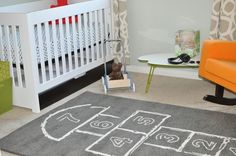 HA!  Every child in Defiance is going to need one of these!  A hopscotch rug for their rooms, inside!
