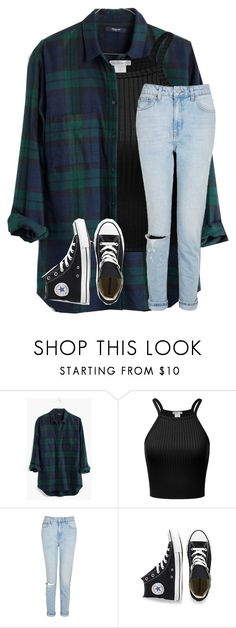 """i'm kinda sorta really sleeeeppyy"" by christyaphan ❤ liked on Polyvore featuring Madewell, Topshop and Converse"