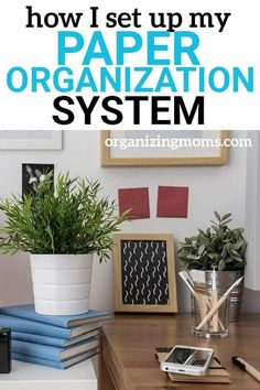 This is the simple paper organization system I use to organize all of our household papers. Use ideas from my system to organize papers, deal with paper clutter, and streamline your paperwork. Organizing Paperwork, Organizing Your Home, Organizing Tips, Organizing Solutions, Cleaning Tips, Office Organization At Work, Organization Hacks, Organized Mom, Getting Organized