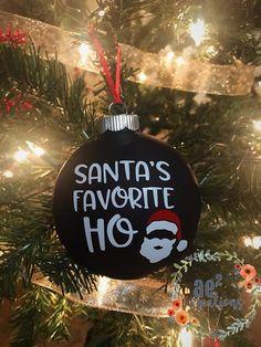 Santa's Favorite Ho Christmas Ornament Funny Ornaments, Teacher Ornaments, Teacher Christmas Gifts, Holiday Gifts, Vinyl Ornaments, Dark Christmas, Christmas Bulbs, Teacher Appreciation Gifts, Teacher Gifts