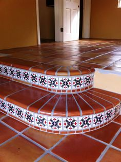 6x12 Super Saltillo Tile With 2x2 Talavera Decorative