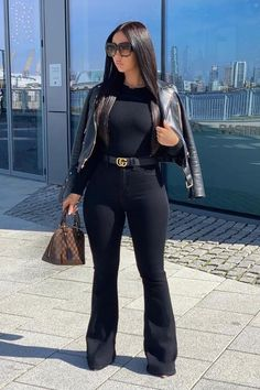 Cute Swag Outfits, Classy Outfits, Stylish Outfits, Fall Outfits, Fashion Outfits, Womens Fashion, Kim K Fashion, Cute All Black Outfits, All Black Outfit For Party
