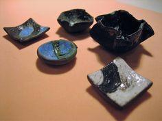 5 mini ceramiche raku