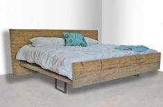 Modern Rustic Reclaimed Wood Platform Bed, King Made to order