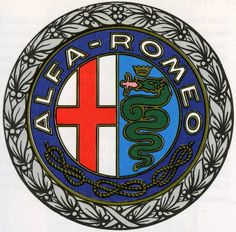 Repro 1930's Alfa Romeo garage wall sign For Sale