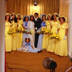 Bridesmaids in color 1970's(?)