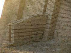 Ur, Mesopotamia (Irak); detalle de una sección del Zigurat