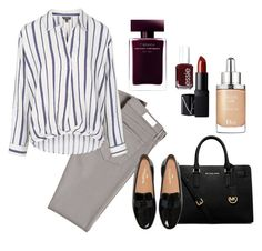 """""""Autumn Office style"""" by alekyanofficial on Polyvore featuring мода, AG Adriano Goldschmied, Essie, Topshop, Narciso Rodriguez, MICHAEL Michael Kors, Christian Dior и NARS Cosmetics"""