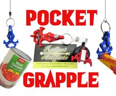 Pocket Grapple- a Toy Mechanical Claw Grappling Hook Grappling Hook, Teacher Notes, Claws, 3 D, 3d Printing, Pocket, Toys, 3d Projects, Camping
