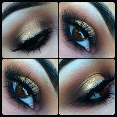 Vanilla pigment, soft brown, goldmine, flicker pp& mystery to smoke out liner