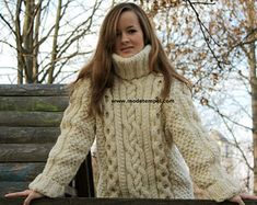 A Thing of Beauty. Knitting Needles, Hand Knitting, Handgestrickte Pullover, Thick Sweaters, Women's Sweaters, Men Sweater, Turtle Neck, Hands, Etsy
