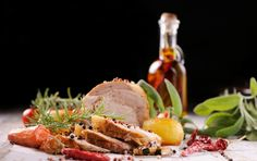 Pork Roast with Thyme and Bay Leaves