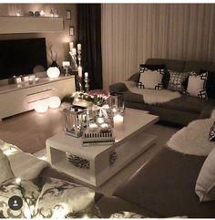 ~ Home Design Ideas Cozy Living Room Ideas for Small Apartment Cozy Living Rooms, Living Room Grey, Apartment Living, Interior Design Living Room, Home And Living, Living Room Designs, Living Room Decor, Living Area, Living Room Inspiration
