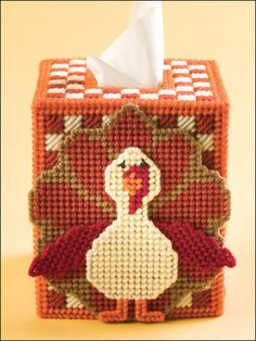 Turkey tissue box cover