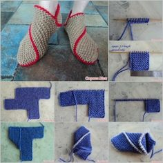 knitted slipper feature