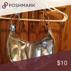 Silver purse Silver purse with chain detail strap. Bags