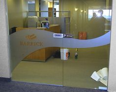 Produced and installed by FASTSIGNS Vancouver for Barrick Gold Corporation www.fastsigns.com/653 Fast Signs, Glass Partition, Vancouver, Custom Design, Gold, Furniture, Home Decor, Bespoke Design, Homemade Home Decor