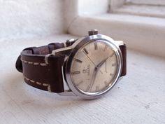 Hopefully my next watch purchase. Vintage Automatic Seamaster on Hirsch Leather bracelet.