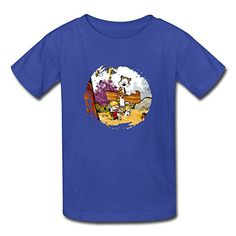 Kids Boys And Girls Cool Calvin And Hobbes RoyalBlue Size S @ niftywarehouse.com #NiftyWarehouse #Nerd #Geek #Entertainment #TV #Products