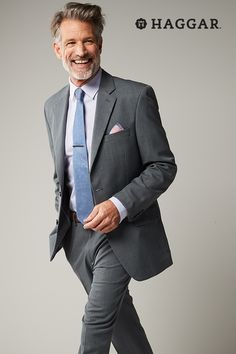 Classic gray suit separates in a modern cut are pieces he'll wear for years. Keep the rest of the look simple but don't be afraid to add color with either a bright or patterned tie, dress shirt or pocket square (but not all three). Get new spring style for him at Kohl's.